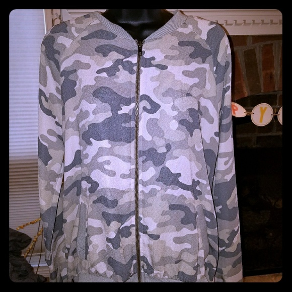 About A Girl Other - Camouflage bomber style jacket
